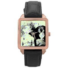 Mint Wall Rose Gold Leather Watch