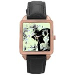 Mint Wall Rose Gold Leather Watch  Front