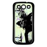 Mint Wall Samsung Galaxy S3 Back Case (Black) Front