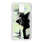 Mint Wall Samsung Galaxy S5 Case (White) Front
