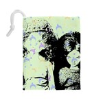 Mint Wall Drawstring Pouches (Large)  Back