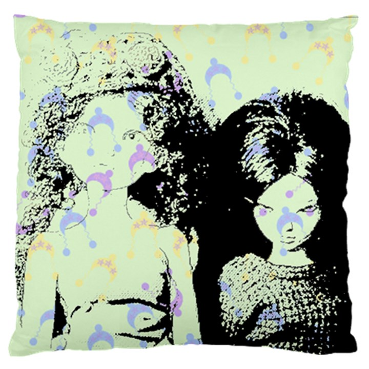 Mint Wall Large Flano Cushion Case (Two Sides)