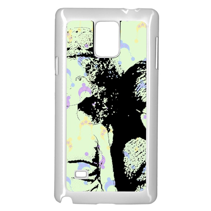 Mint Wall Samsung Galaxy Note 4 Case (White)