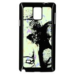 Mint Wall Samsung Galaxy Note 4 Case (Black) Front