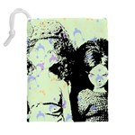 Mint Wall Drawstring Pouches (Extra Large) Back