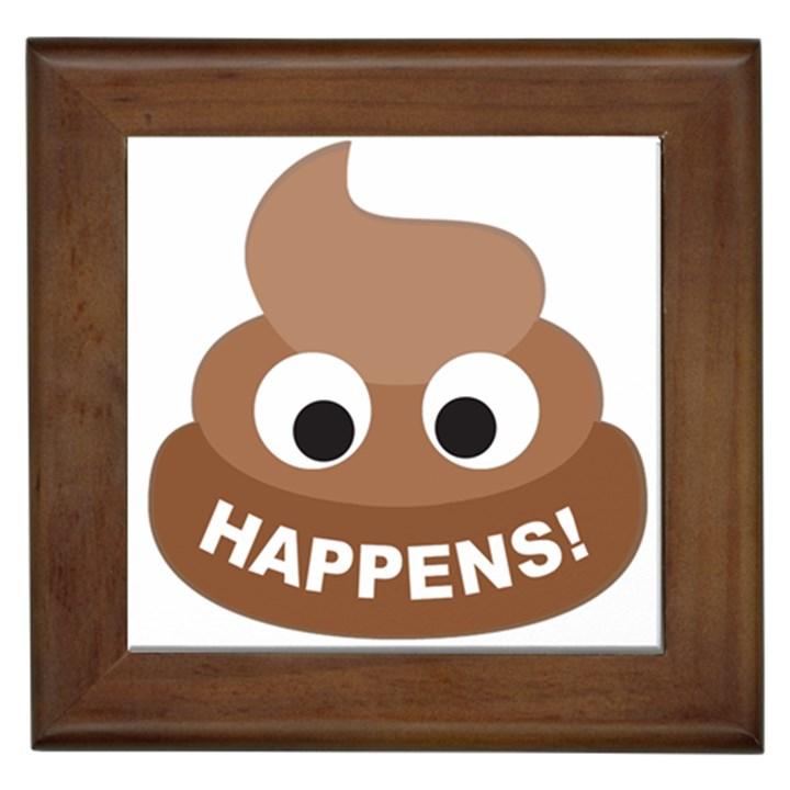 Poo Happens Framed Tiles