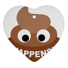 Poo Happens Ornament (heart)