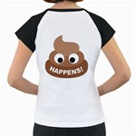 Poo Happens Women s Cap Sleeve T Back