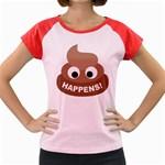 Poo Happens Women s Cap Sleeve T-Shirt Front