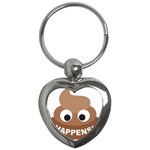 Poo Happens Key Chains (Heart)  Front