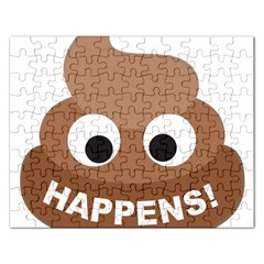 Poo Happens Rectangular Jigsaw Puzzl
