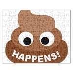 Poo Happens Rectangular Jigsaw Puzzl Front