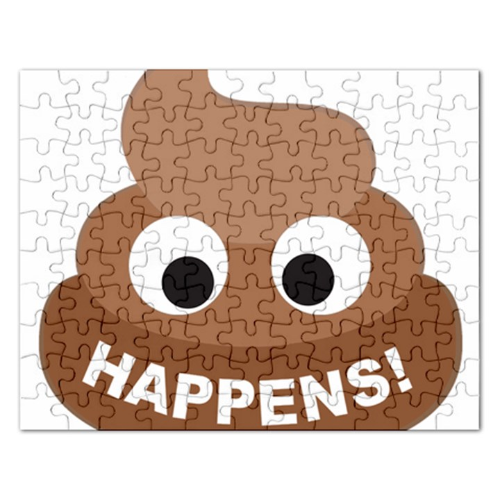 Poo Happens Rectangular Jigsaw Puzzl