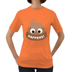 Poo Happens Women s Dark T Shirt