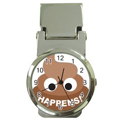 Poo Happens Money Clip Watches