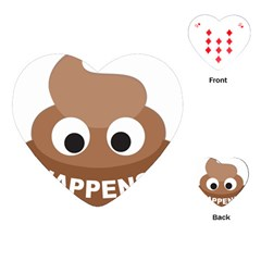 Poo Happens Playing Cards (heart)