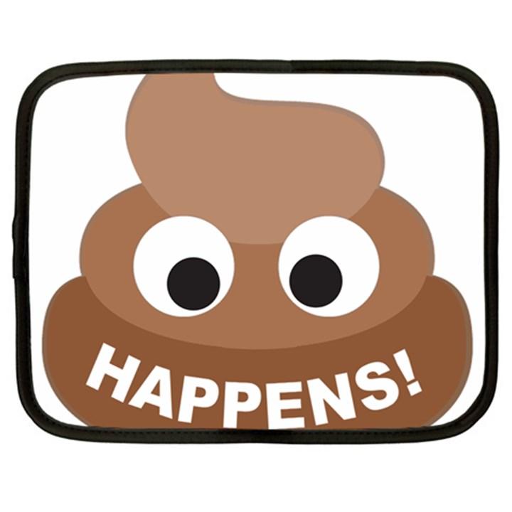 Poo Happens Netbook Case (Large)