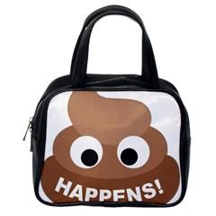 Poo Happens Classic Handbags (one Side)