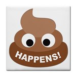 Poo Happens Face Towel Front