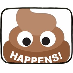 Poo Happens Double Sided Fleece Blanket (mini)
