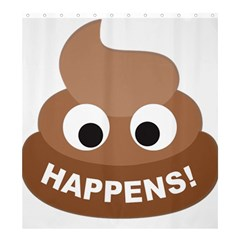 Poo Happens Shower Curtain 66  X 72  (large)