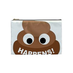 Poo Happens Cosmetic Bag (medium)