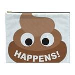 Poo Happens Cosmetic Bag (XL) Front