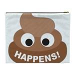 Poo Happens Cosmetic Bag (XL) Back