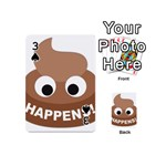 Poo Happens Playing Cards 54 (Mini)  Front - Spade3