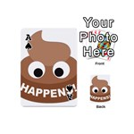 Poo Happens Playing Cards 54 (Mini)  Front - SpadeA