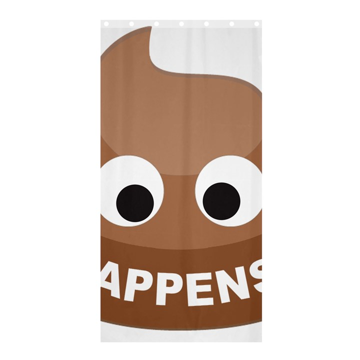 Poo Happens Shower Curtain 36  x 72  (Stall)