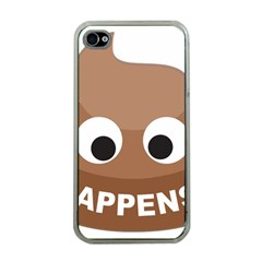 Poo Happens Apple Iphone 4 Case (clear)
