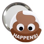 Poo Happens 3  Handbag Mirrors Front