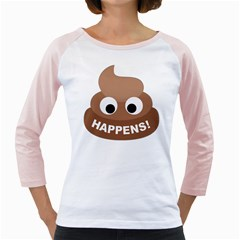 Poo Happens Girly Raglans