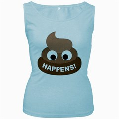 Poo Happens Women s Baby Blue Tank Top