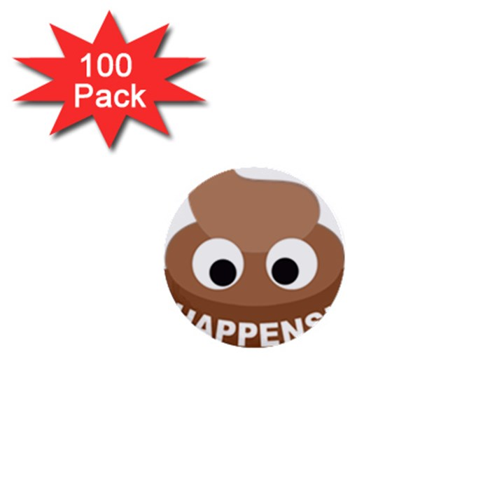 Poo Happens 1  Mini Buttons (100 pack)