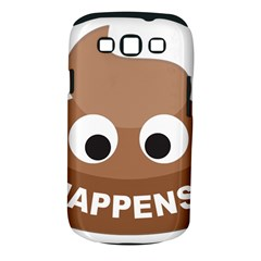 Poo Happens Samsung Galaxy S Iii Classic Hardshell Case (pc+silicone)