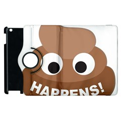 Poo Happens Apple Ipad 3/4 Flip 360 Case