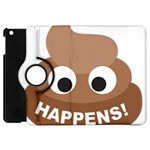 Poo Happens Apple iPad Mini Flip 360 Case Front