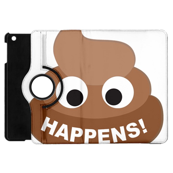 Poo Happens Apple iPad Mini Flip 360 Case