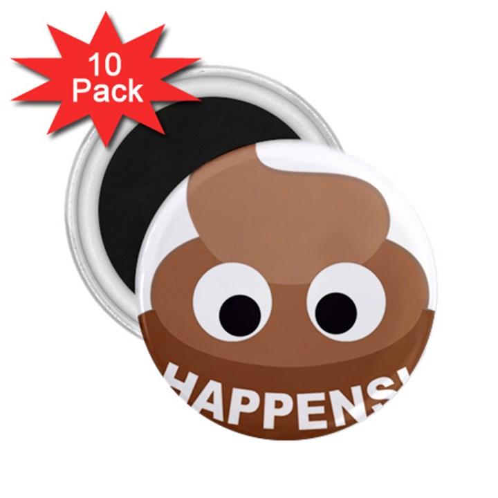 Poo Happens 2.25  Magnets (10 pack)