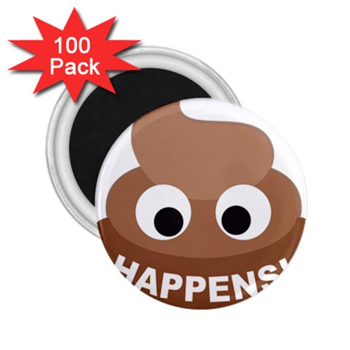 Poo Happens 2.25  Magnets (100 pack)
