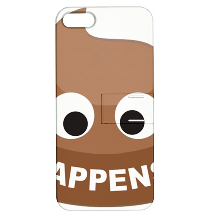 Poo Happens Apple iPhone 5 Hardshell Case with Stand