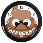Poo Happens Wall Clocks (Black) Front