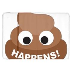 Poo Happens Samsung Galaxy Tab 8 9  P7300 Flip Case