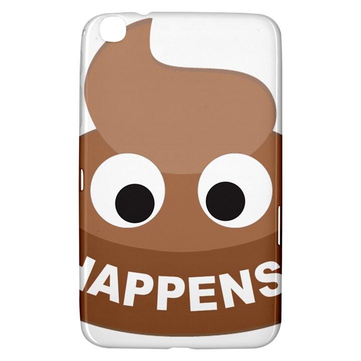 Poo Happens Samsung Galaxy Tab 3 (8 ) T3100 Hardshell Case