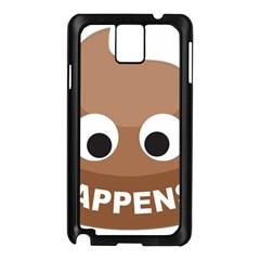 Poo Happens Samsung Galaxy Note 3 N9005 Case (black)