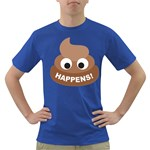 Poo Happens Dark T-Shirt Front