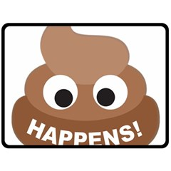 Poo Happens Double Sided Fleece Blanket (large)