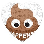 Poo Happens Jigsaw Puzzle (Heart) Front